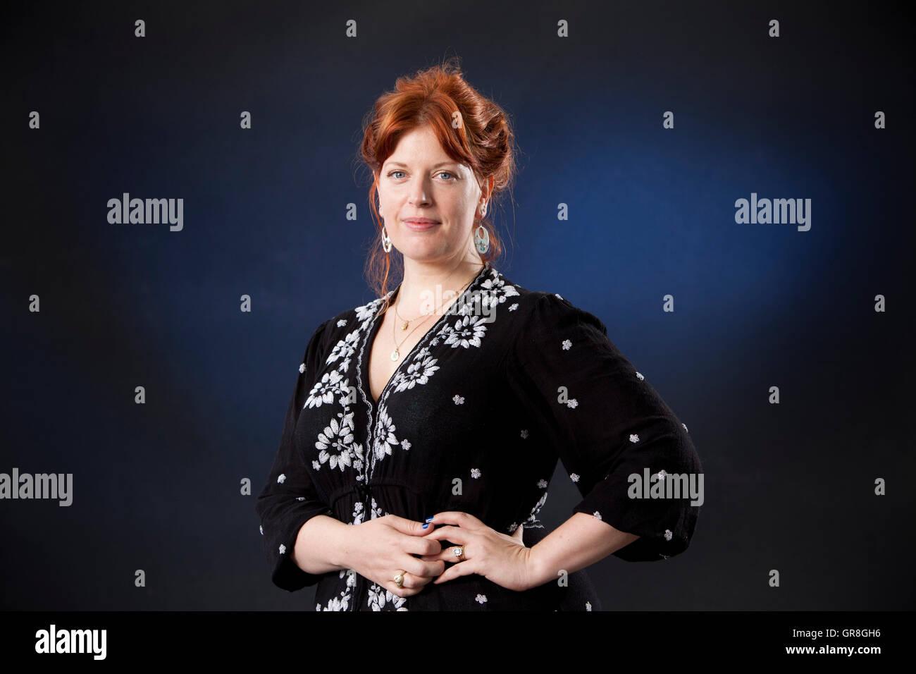 Sarah Perry, the English author, academic, and journalist, at the Edinburgh International Book Festival. Edinburgh, - Stock Image