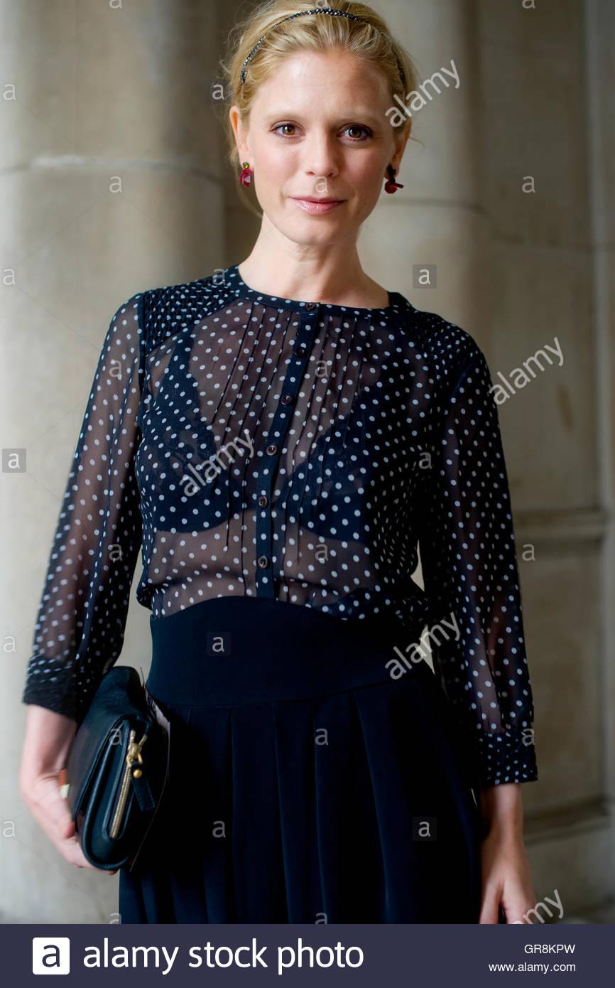 Award winning actress,Emilia Fox at Somerset House, during London Fashion Week. - Stock Image