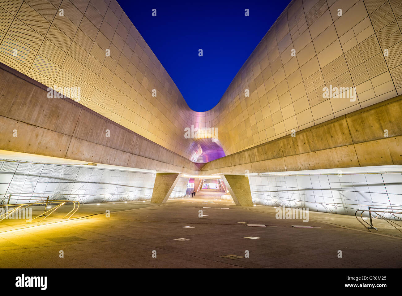 Seoul, South Korea- December 7, 2015: The Dongdaemun Design Plaza, also called the DDP, is a major urban development - Stock Image