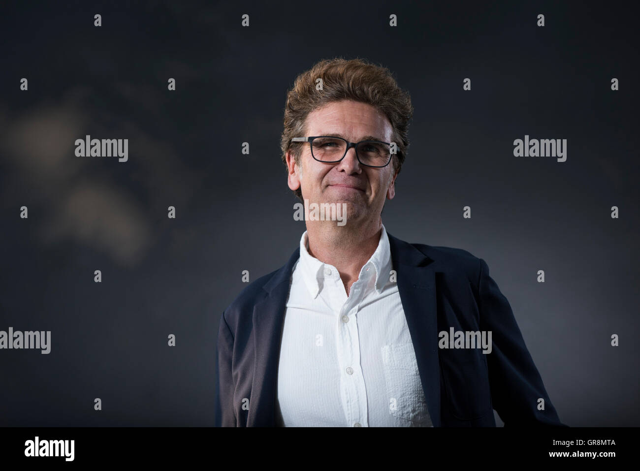 American short story writer and novelist David Means. - Stock Image