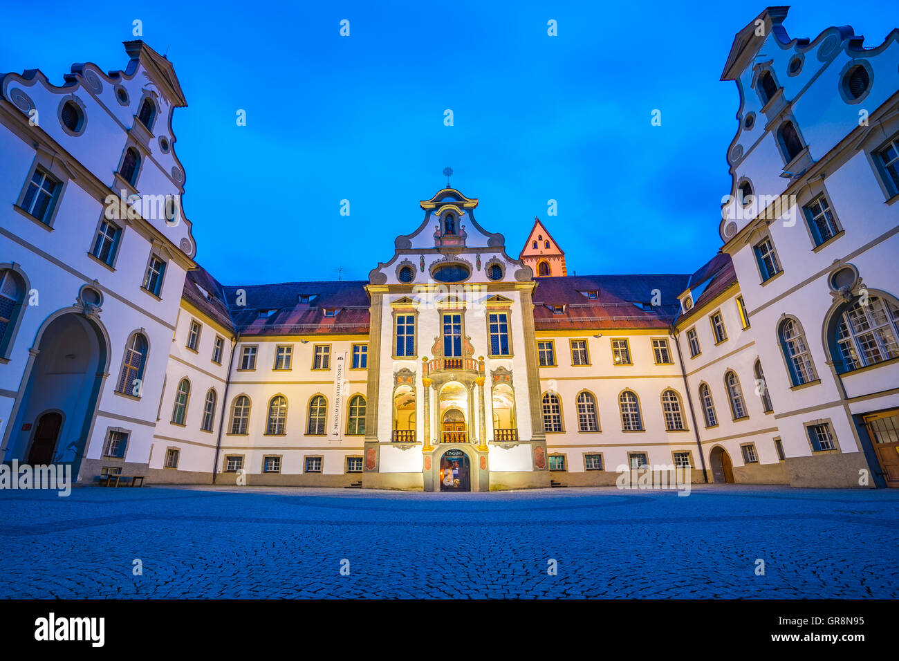 Fussen town in Bavaria, Germany. - Stock Image