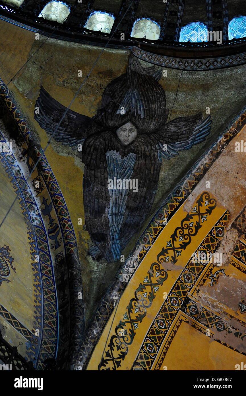 Istanbul Hagia Sophia, Again Exempted Angel Figure Stock Photo