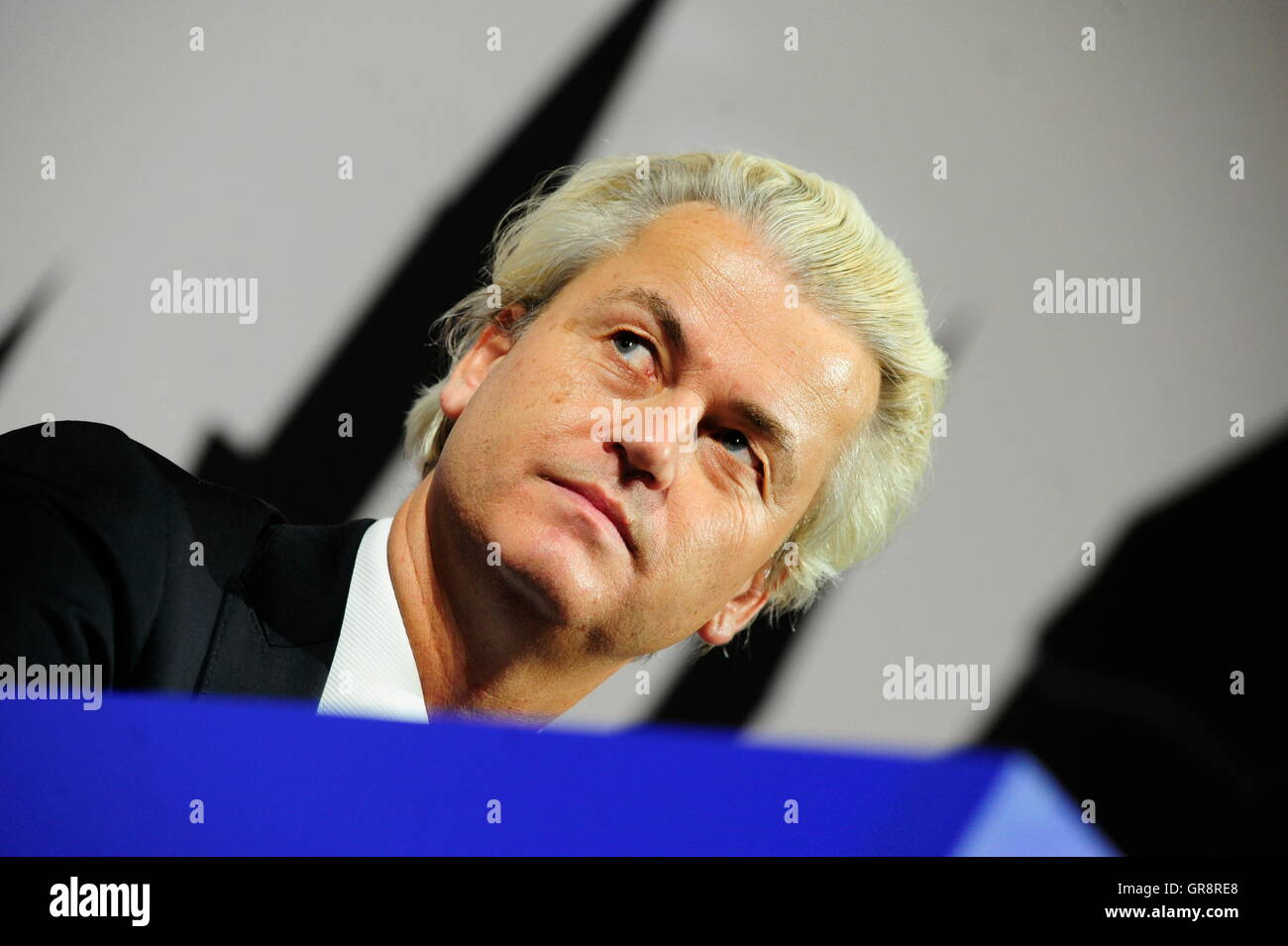 Politicians Talk In Vienna About Alleged Europe Threat Of Islamization With Geert Wilders - Stock Image