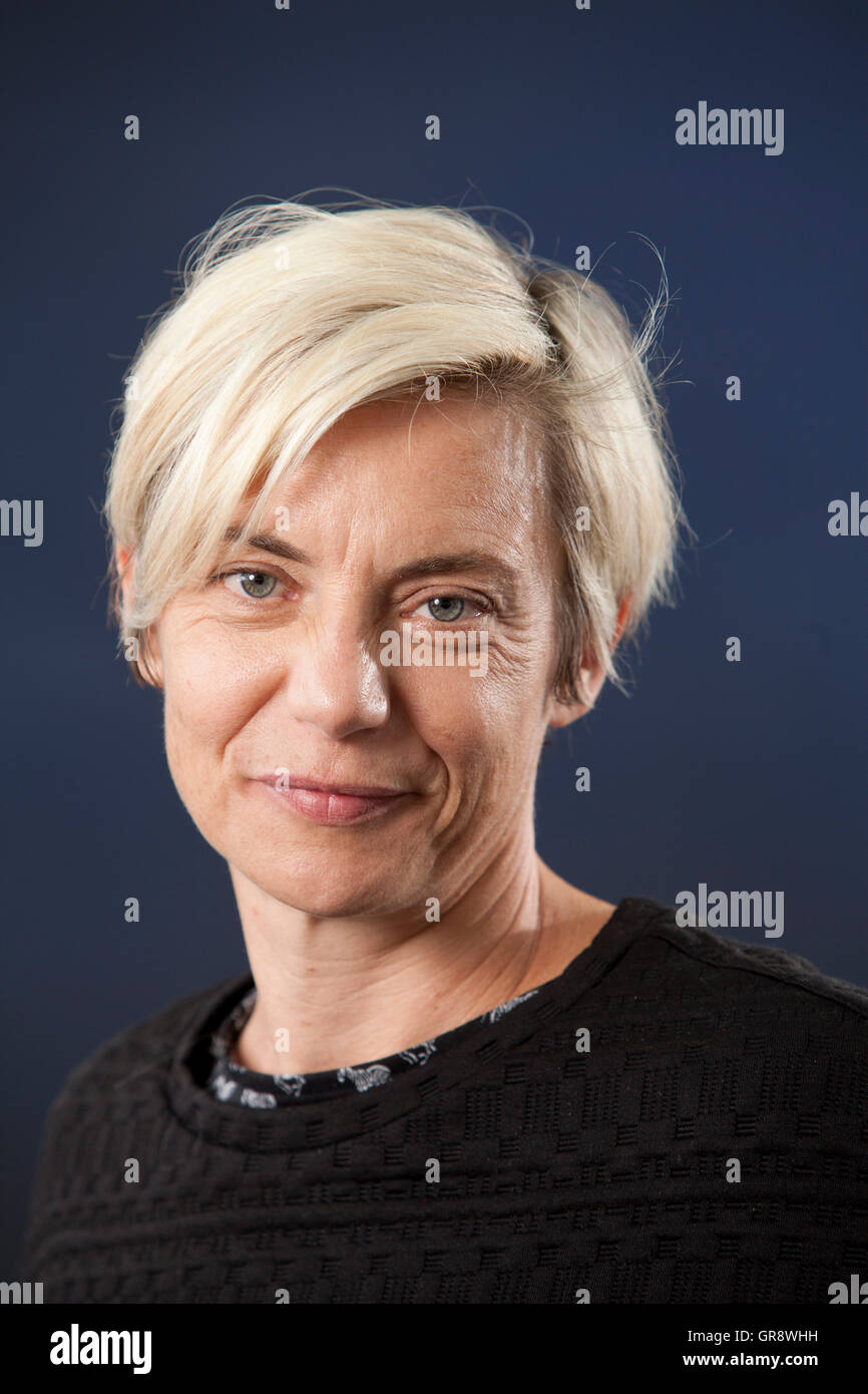 Miranda Sawyer, the English journalist and broadcaster, at the Edinburgh International Book Festival. Edinburgh, - Stock Image