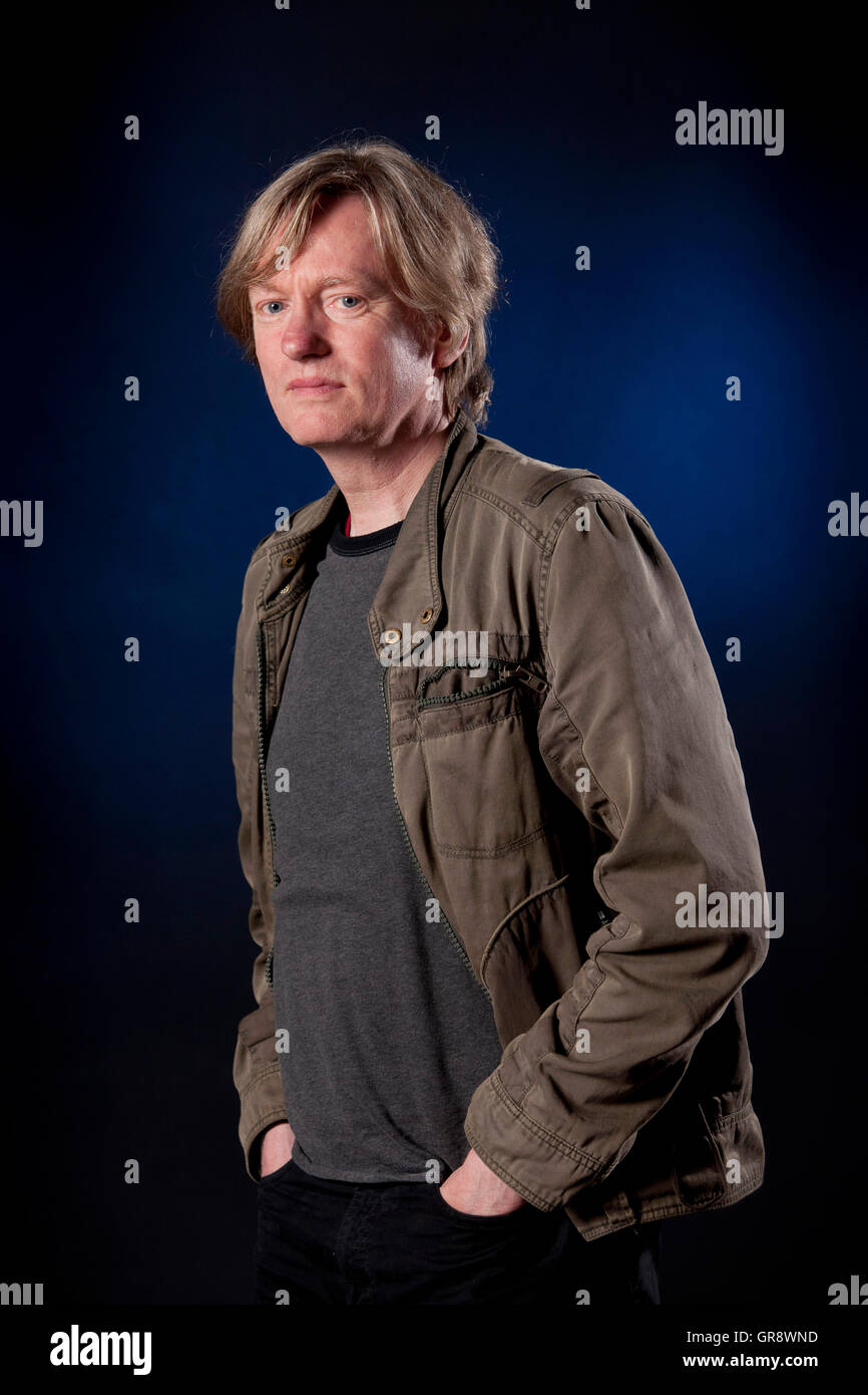 Michel Faber, the Dutch-born writer of English-language fiction, at the Edinburgh International Book Festival. Edinburgh, - Stock Image