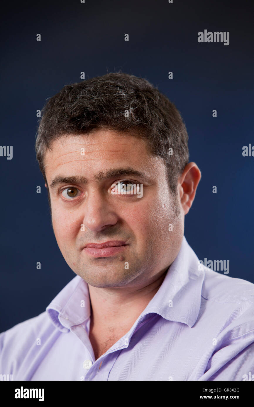 Tom Blass, the journalist and travel writer, at the Edinburgh International Book Festival. Edinburgh, Scotland. - Stock Image