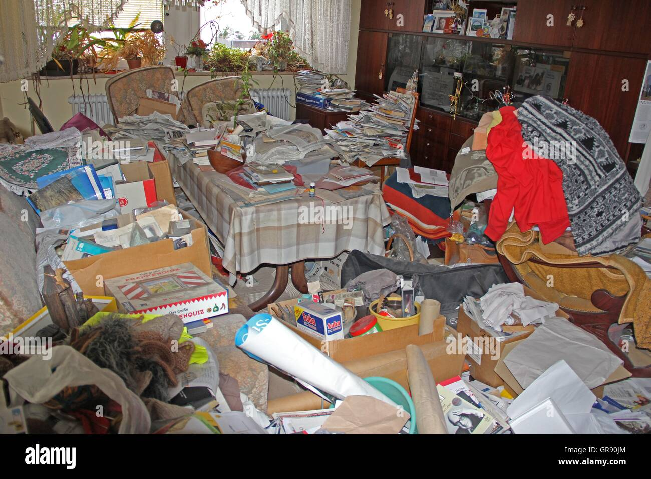 Total Littering Apartment - Stock Image