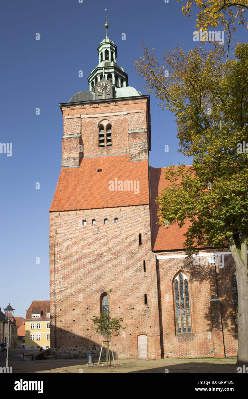 St. Mary S Church In Wittstock  Dosse, Mecklenburg, Germany - Stock Image