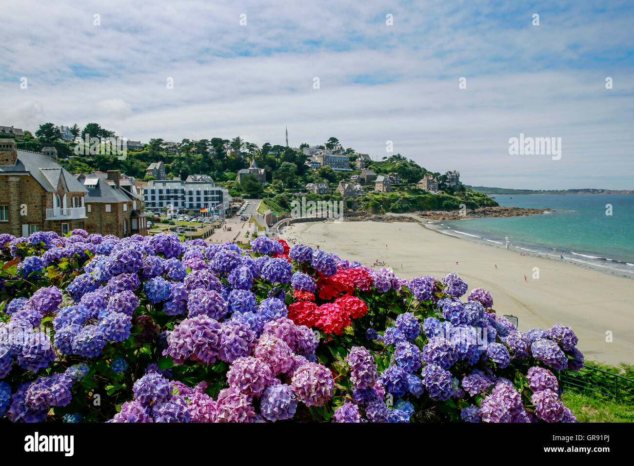 Beach At Perros-Guirec, Brittany, France Stock Photo