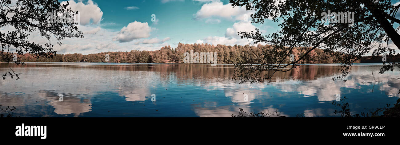 Autumn Lakeside - Stock Image