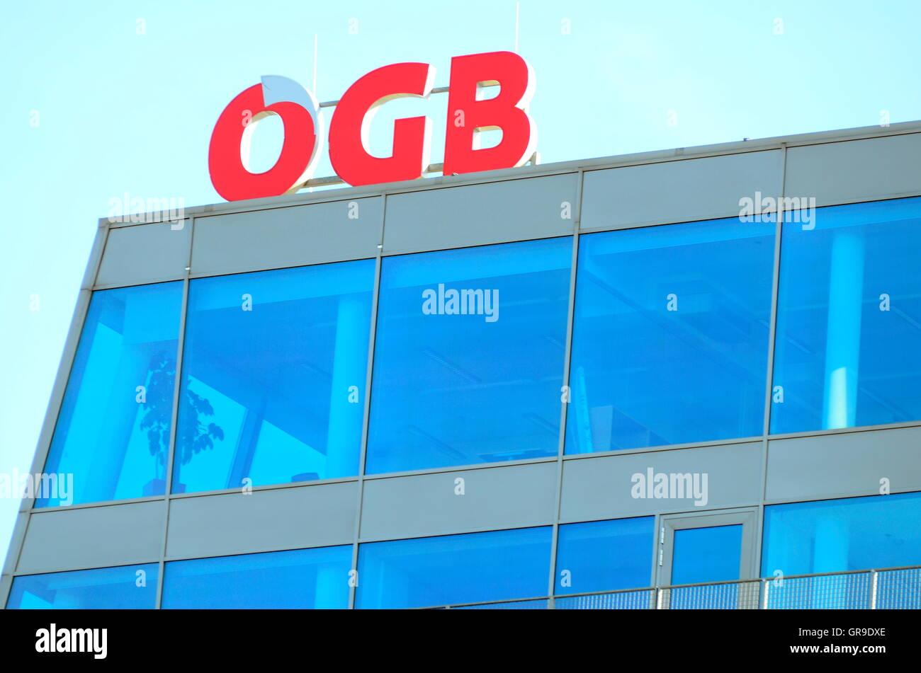 Ögb Austrian Trade Unions Logo - Stock Image