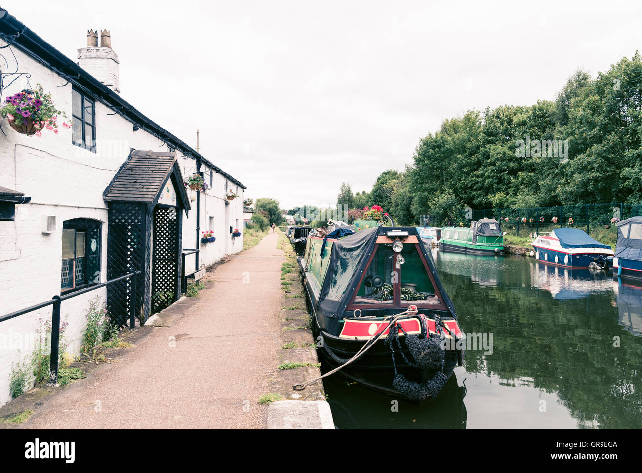 Watch House Cruising Club, Bridgewater Canal, Stretford, Manchester. - Stock Image