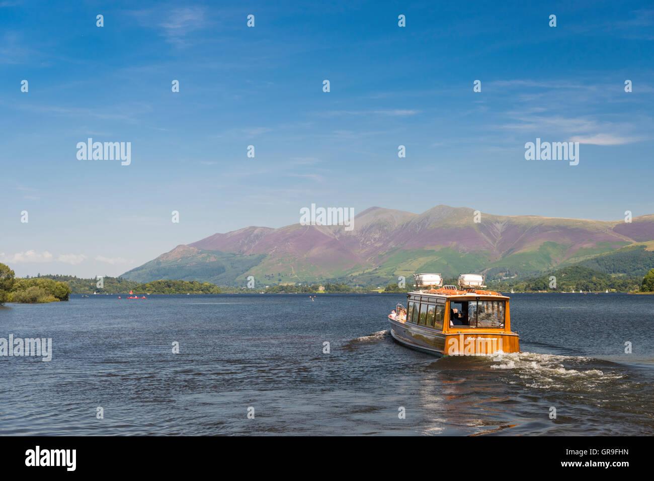 Lake Cruise on Derwent Water, The Lake District, Cumbria, UK - Stock Image