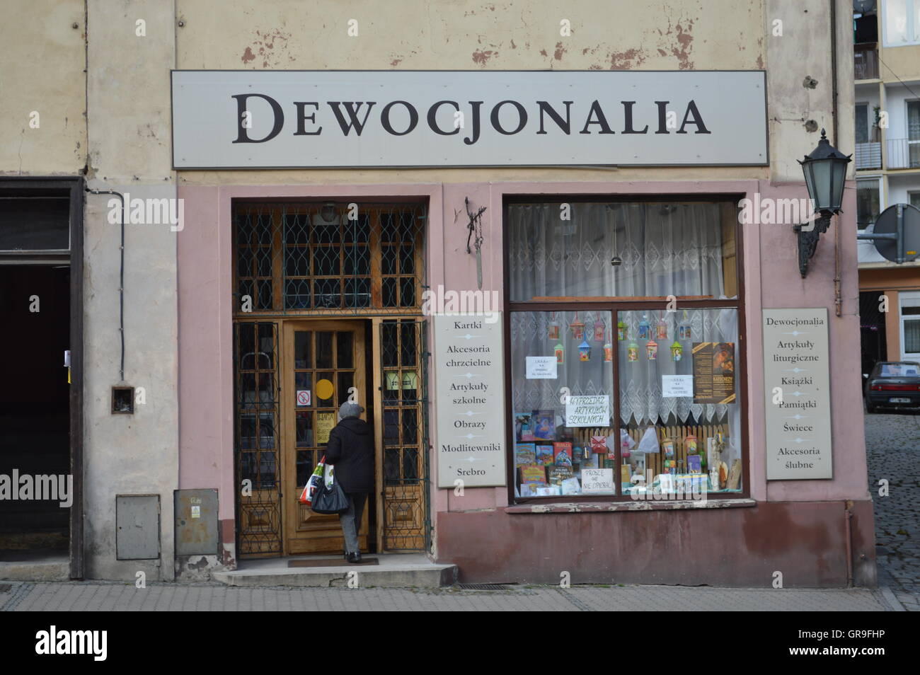 Polish Shop For Devotional Objects - Stock Image