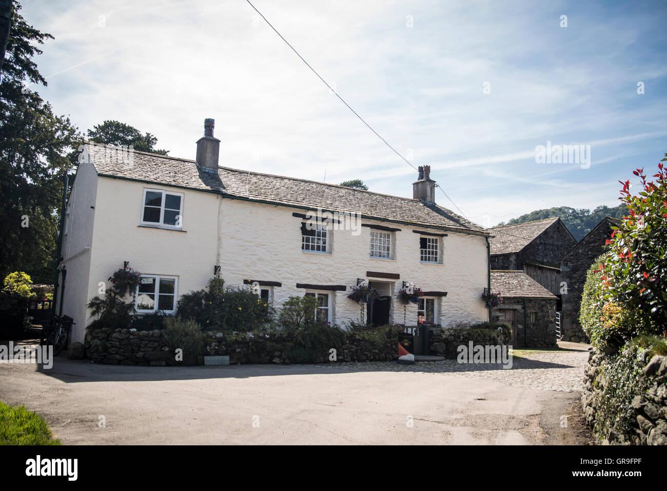 Yew Tree Farm, Rosthwaite, Borrowdale , Lake District, Cumbria United Kingdom - Stock Image