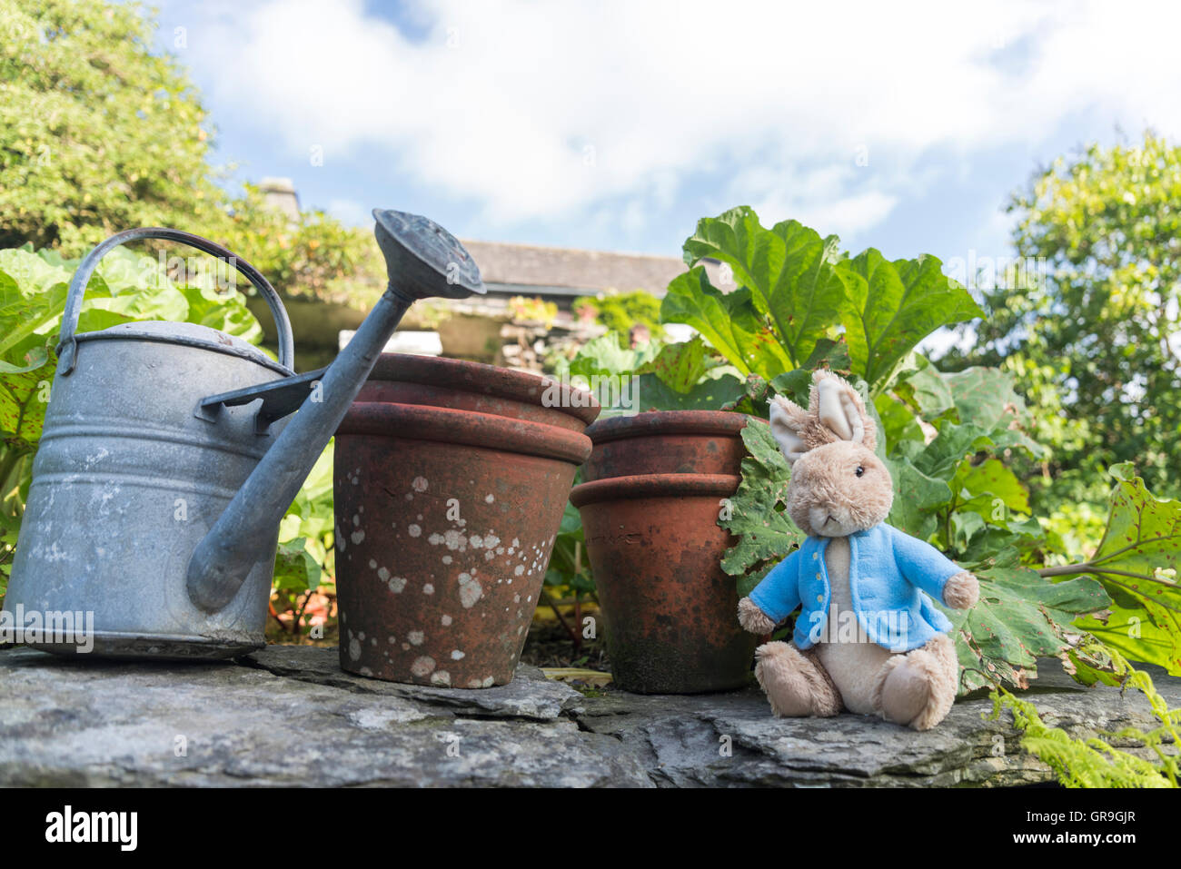 Hill Top, home of Beatrix Potter, creator of Peter Rabbit. Lake District, Cumbria, UK - Stock Image