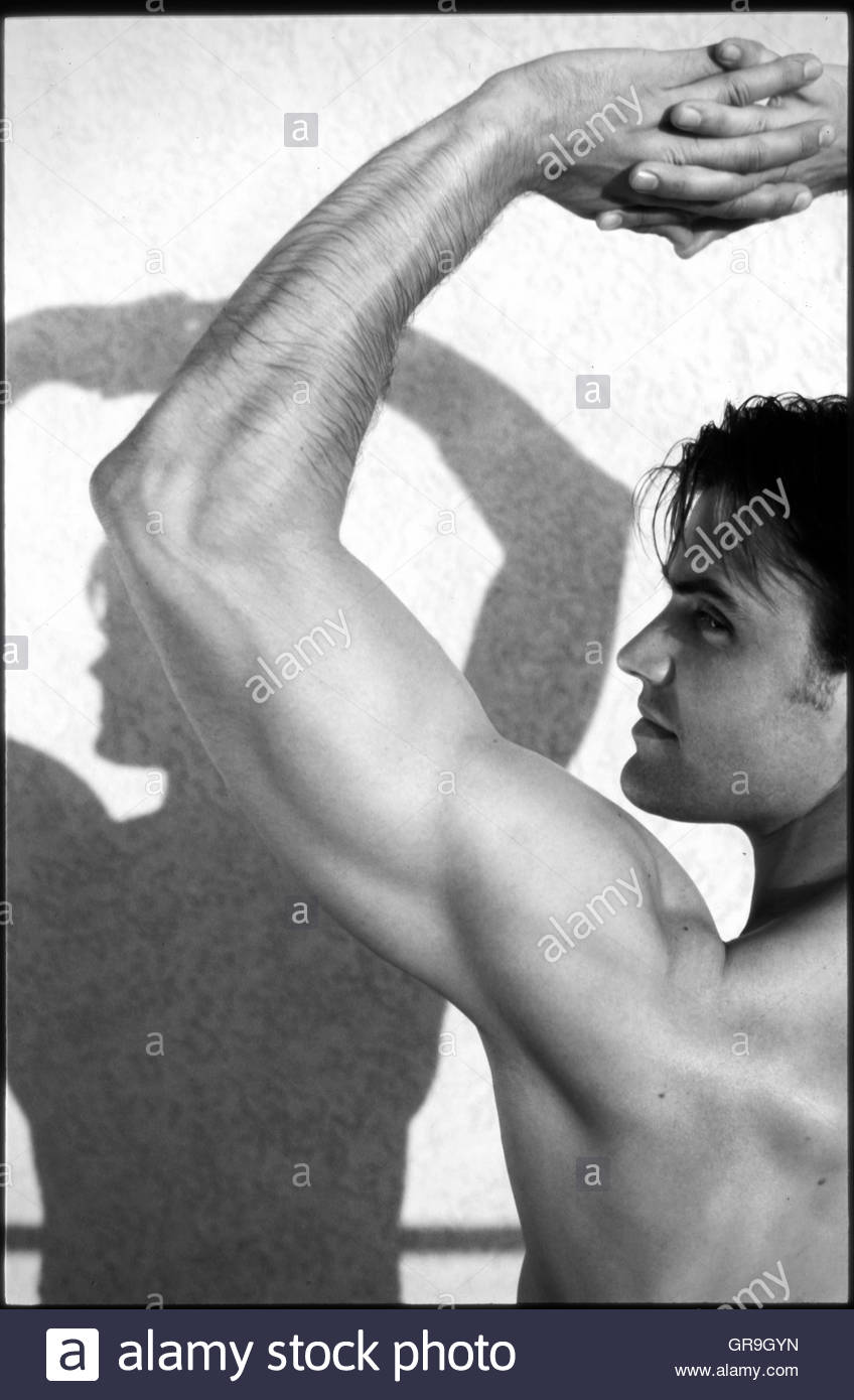 Man With Muscles - Stock Image