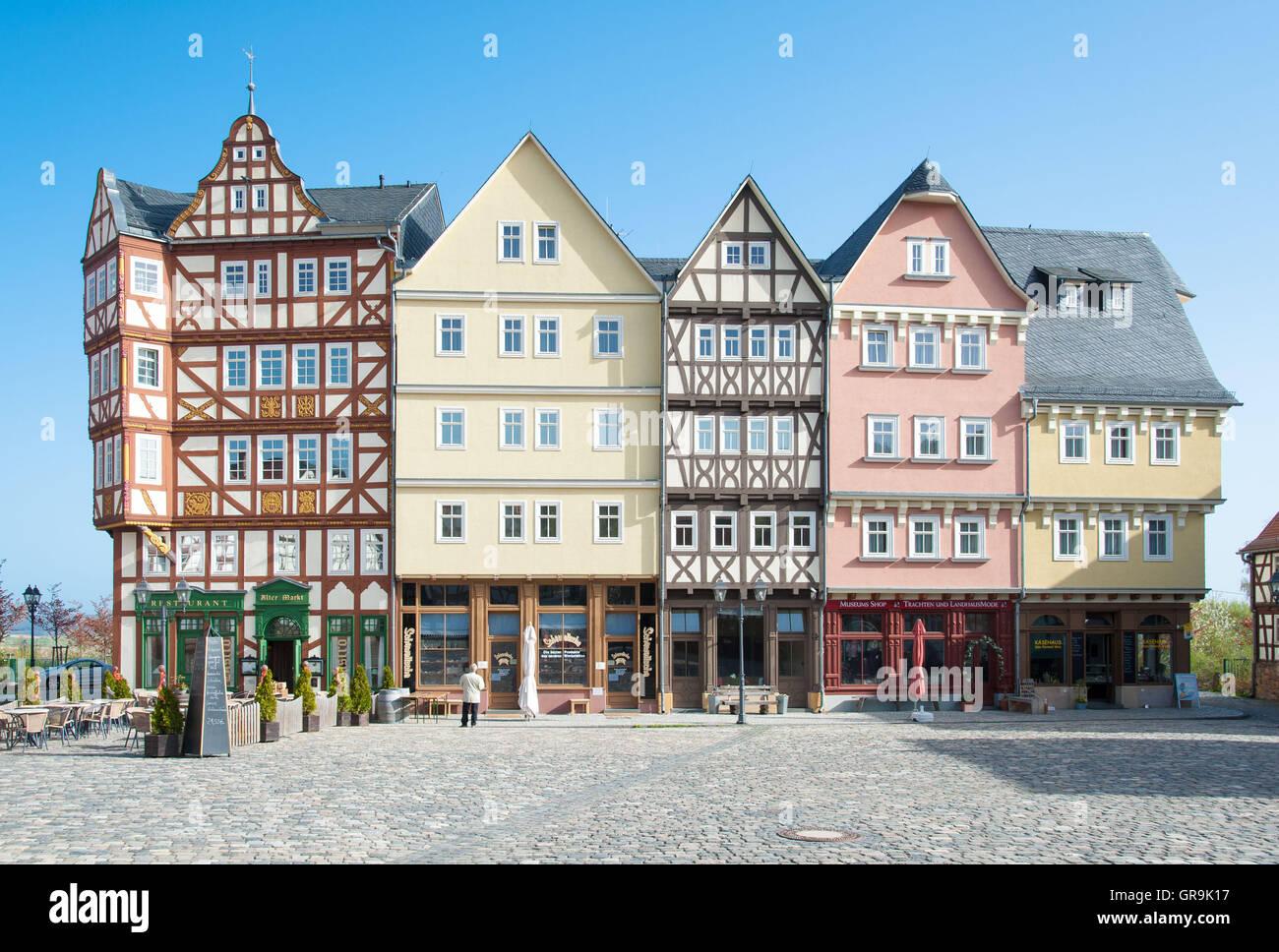 Historic German Buidlings - Stock Image