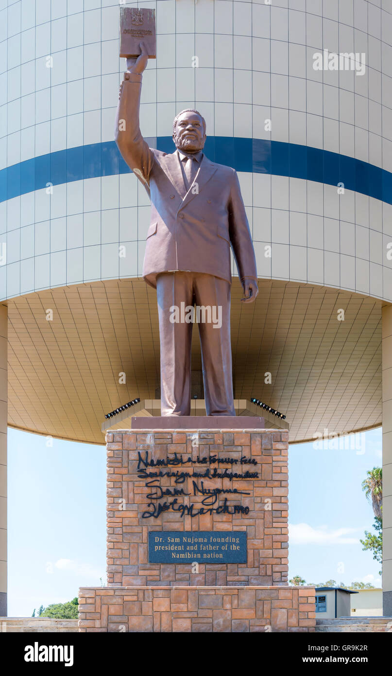 Dr. Sam Nujoma, Independence Museum Windhoek, Namibia - Stock Image