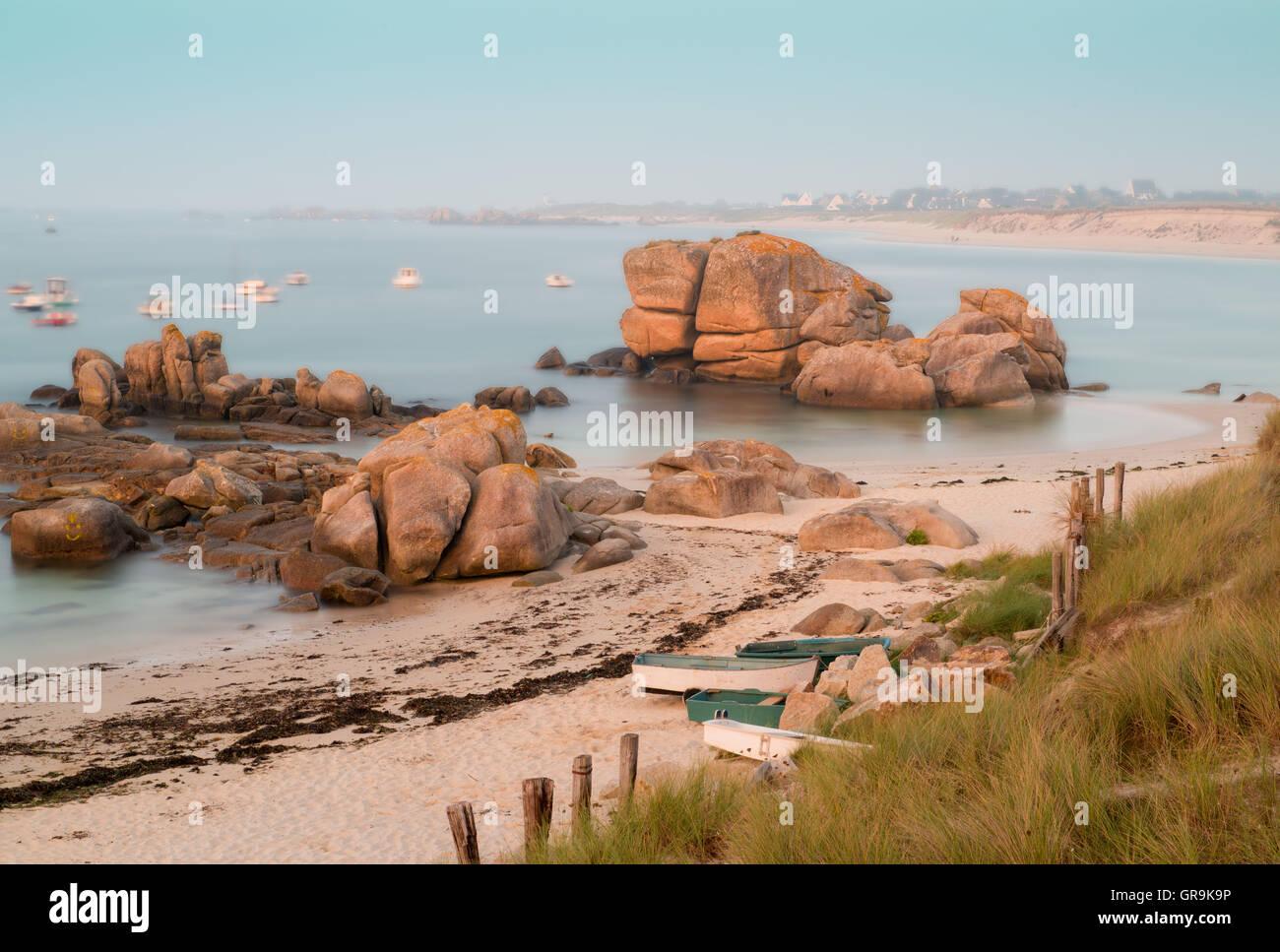 Dreamily Brittany Coast - Stock Image