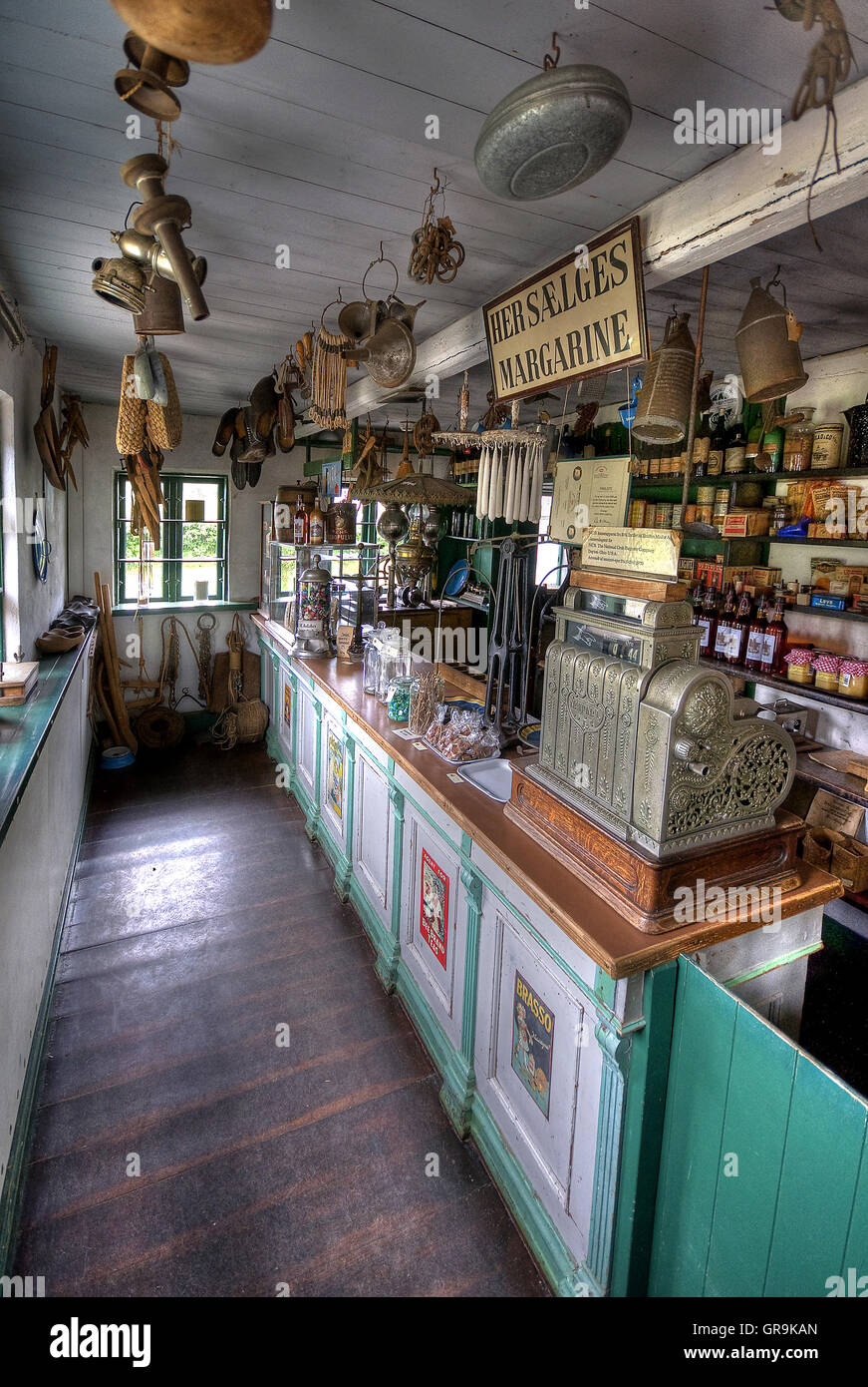 Old Shop Historically Furnished - Stock Image