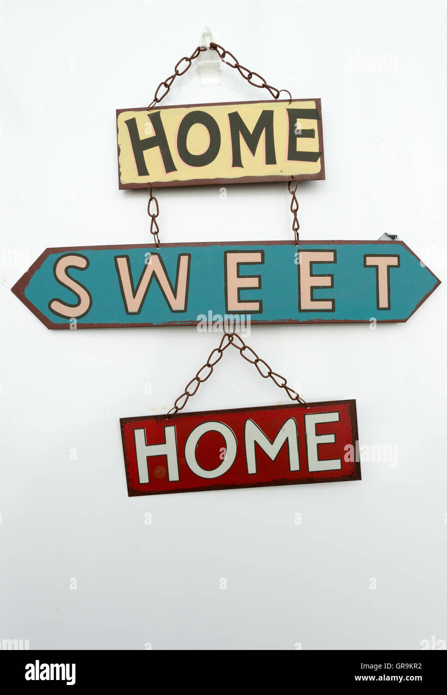 Shield Home Sweet Home - Stock Image