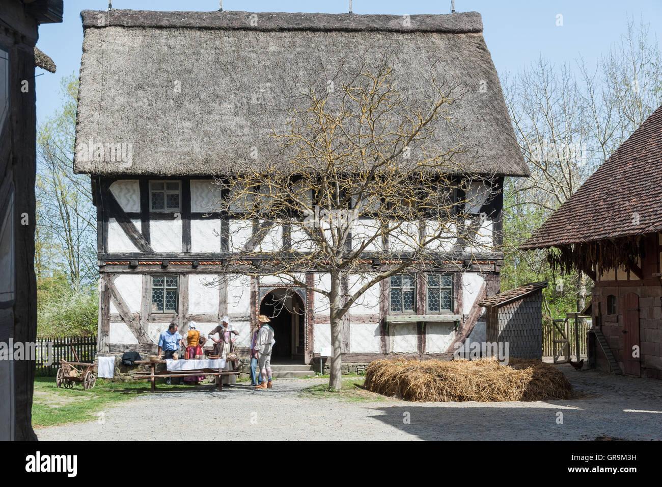 Historic Farmhouse Neu-Anspach Deutschland - Stock Image