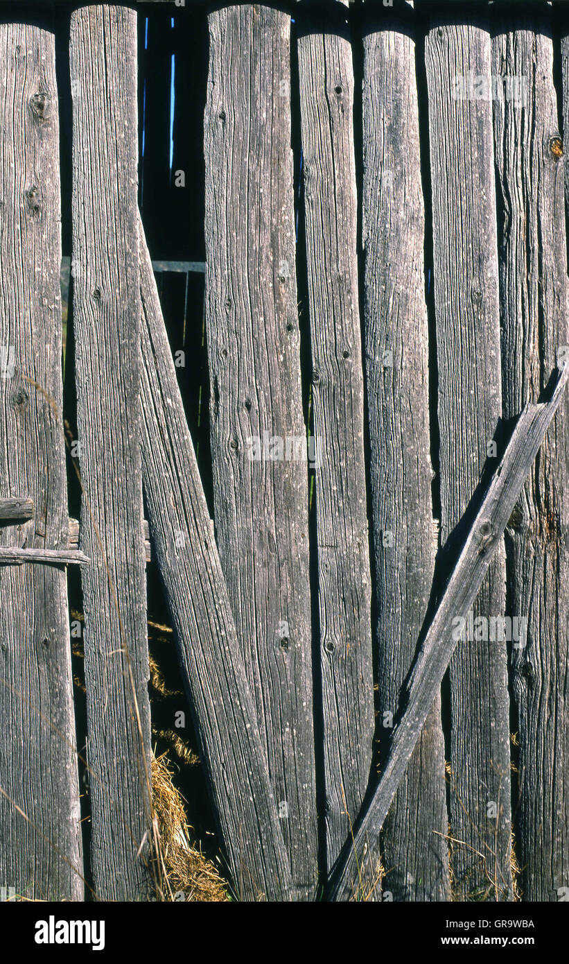 Old Barn Wood - Stock Image