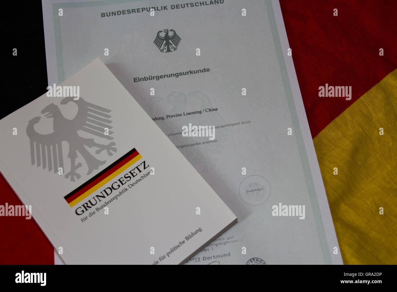 Naturalization Certificate - Stock Image