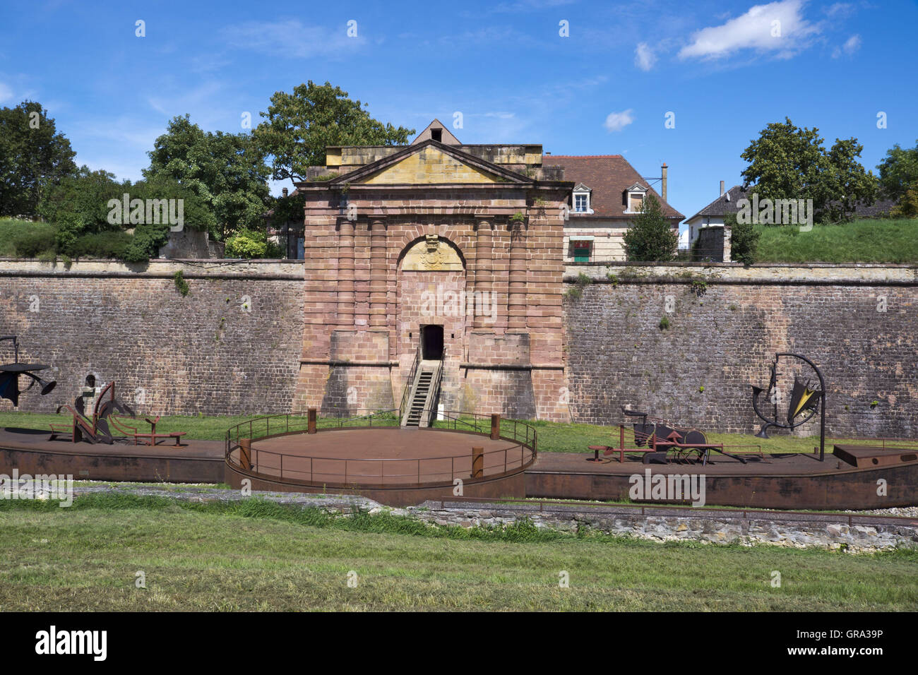 Porte De Belfort, Fortifications Of Vauban, Unesco World Heritage Site, Neuf-Brisach, Alsace, France, Europe - Stock Image