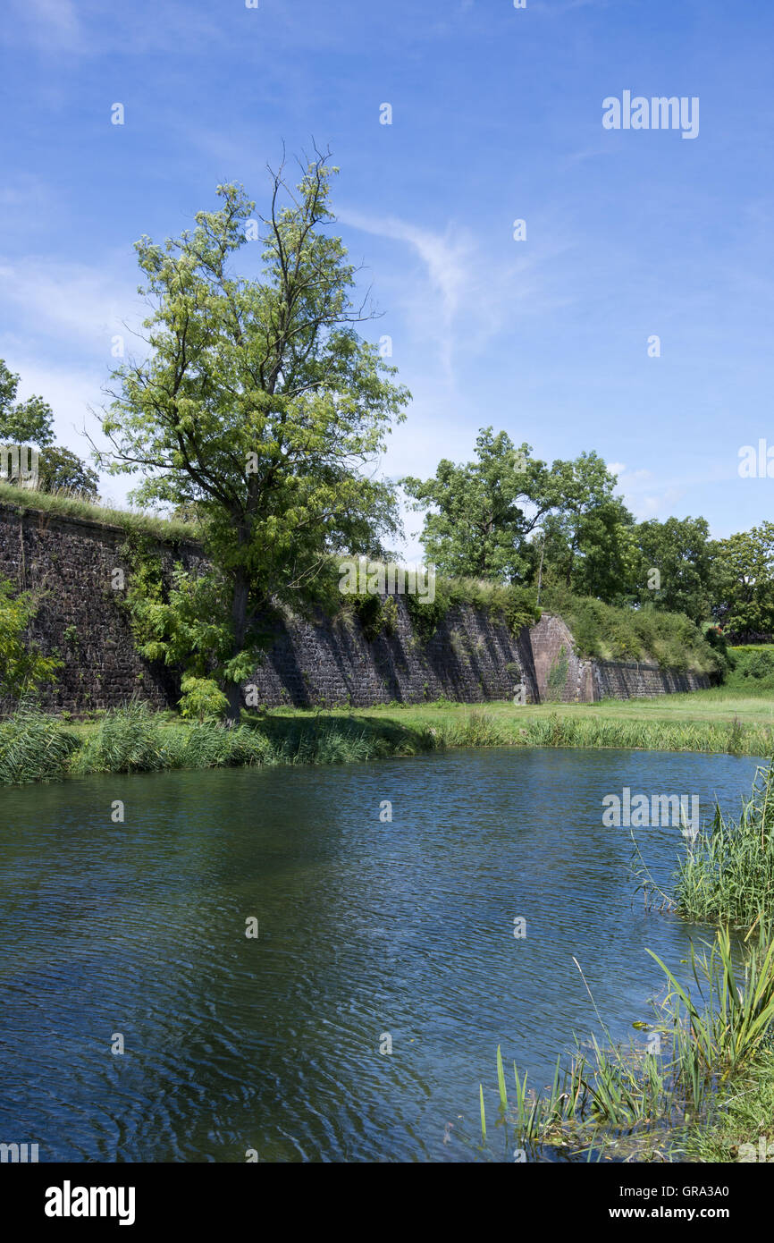 Fortifications Of Vauban, Unesco World Heritage Site, Neuf-Brisach, Alsace, France, Europe - Stock Image