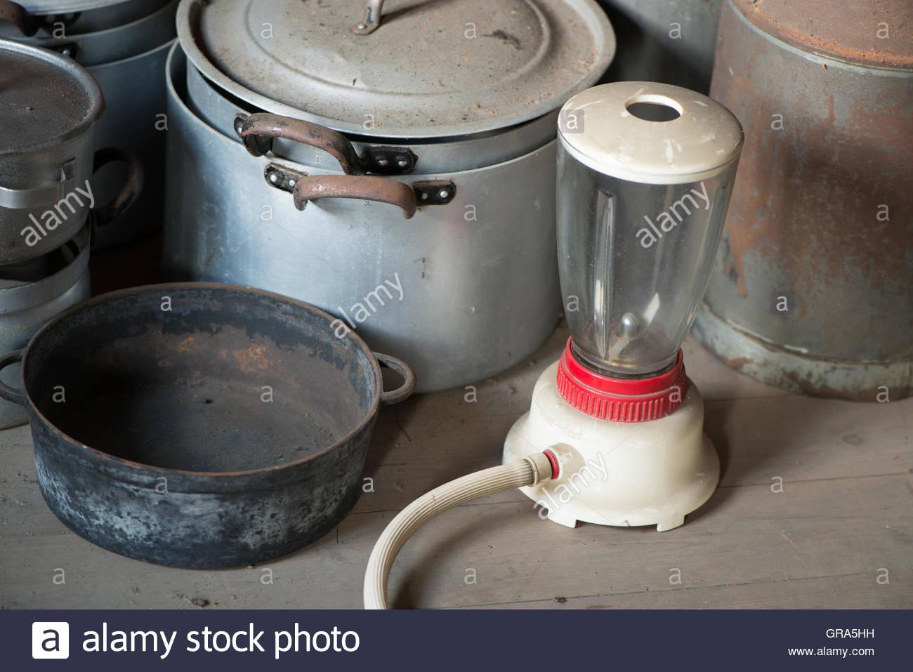 Pots On An Attic Stock Photo
