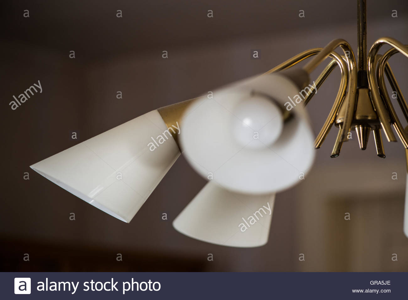 Lamp In A Living Room From The Fifties Stock Photo