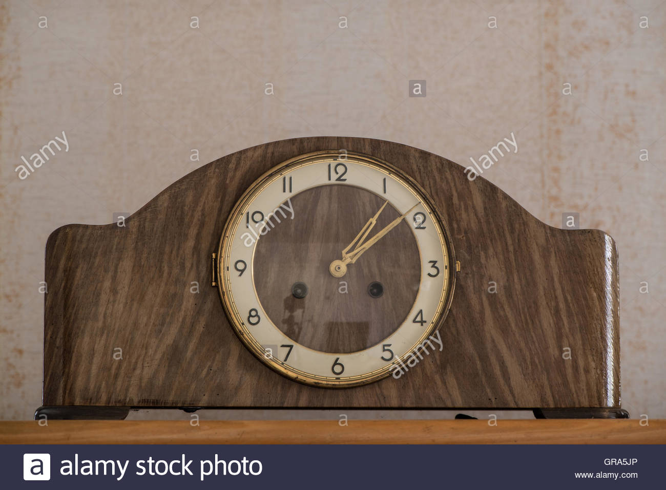 Living Room Clock From The Fifties Stock Photo