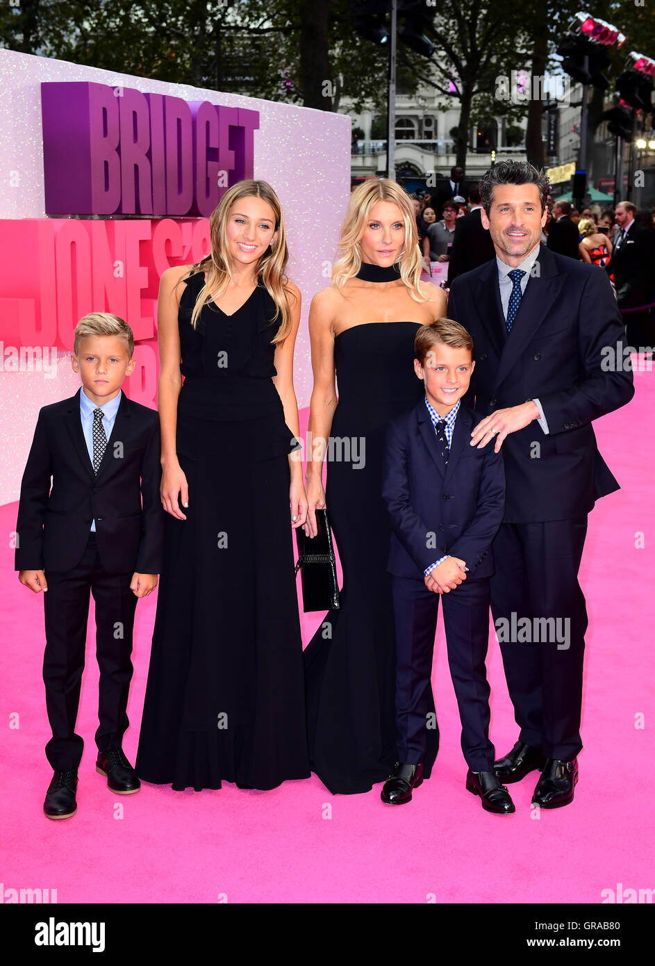 Patrick Dempsey Jillian Fink And Family Attending The World