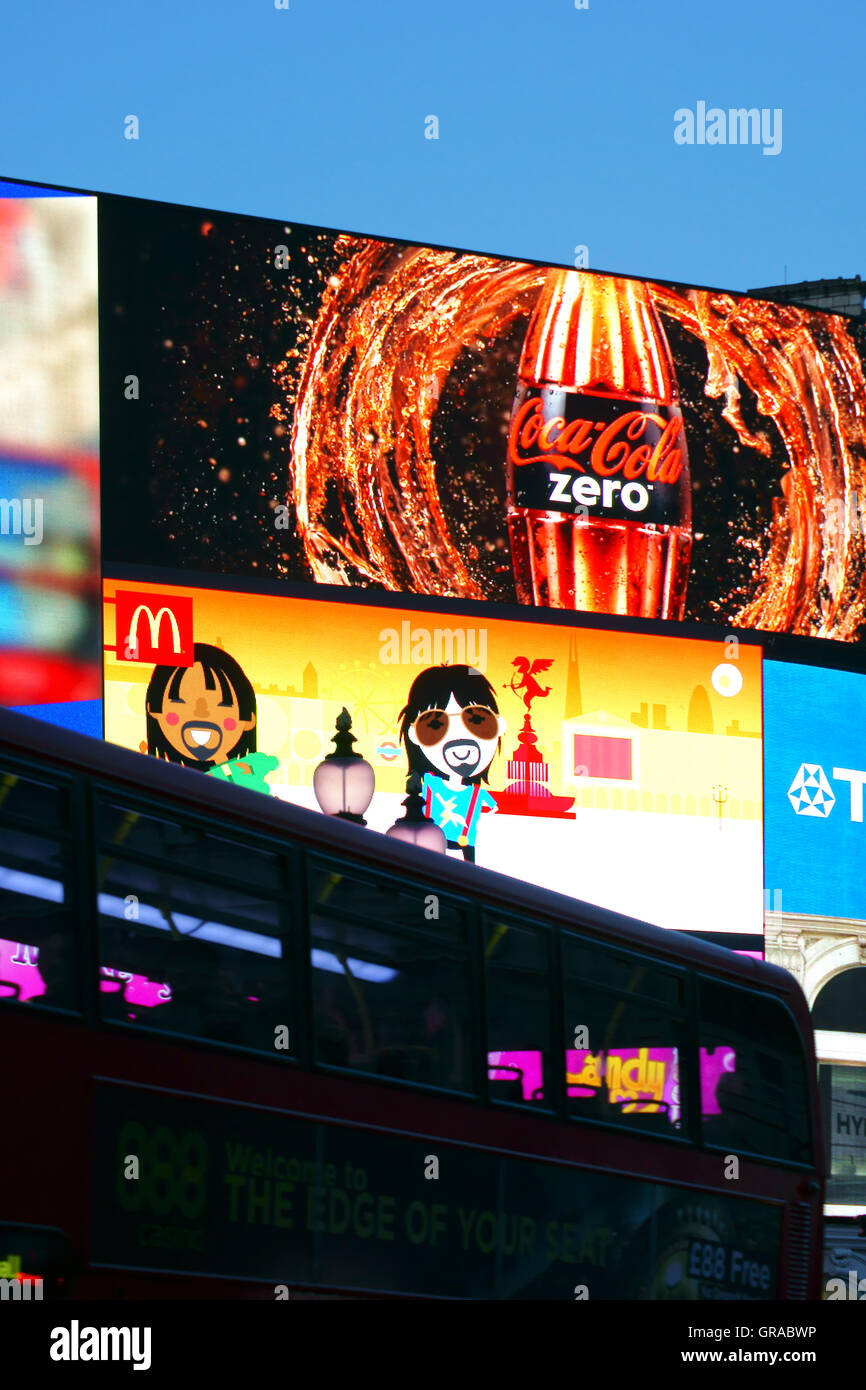 Billboard Piccadilly Circus Stock Photo