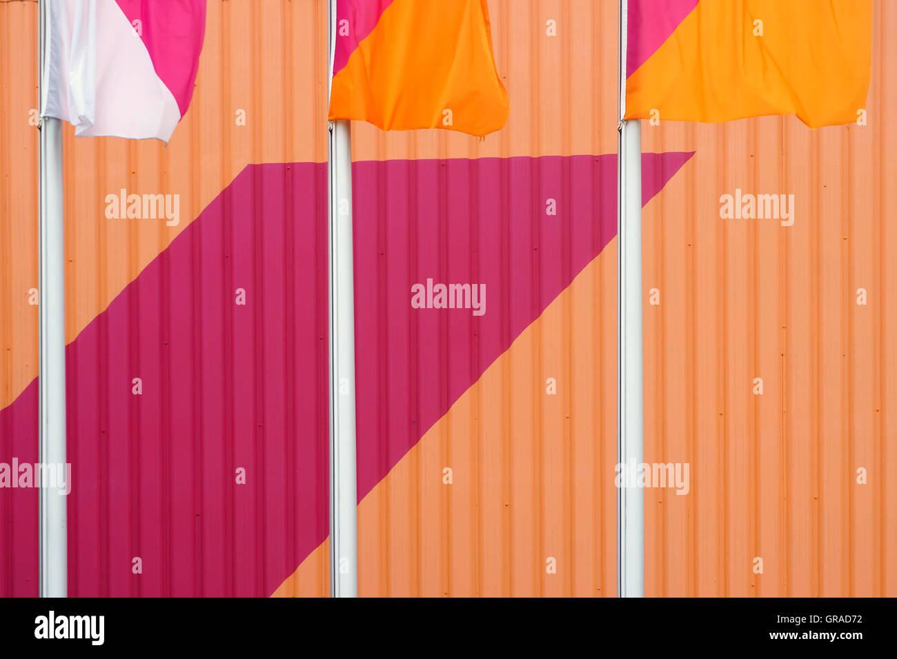 Waving Colors Stock Photo