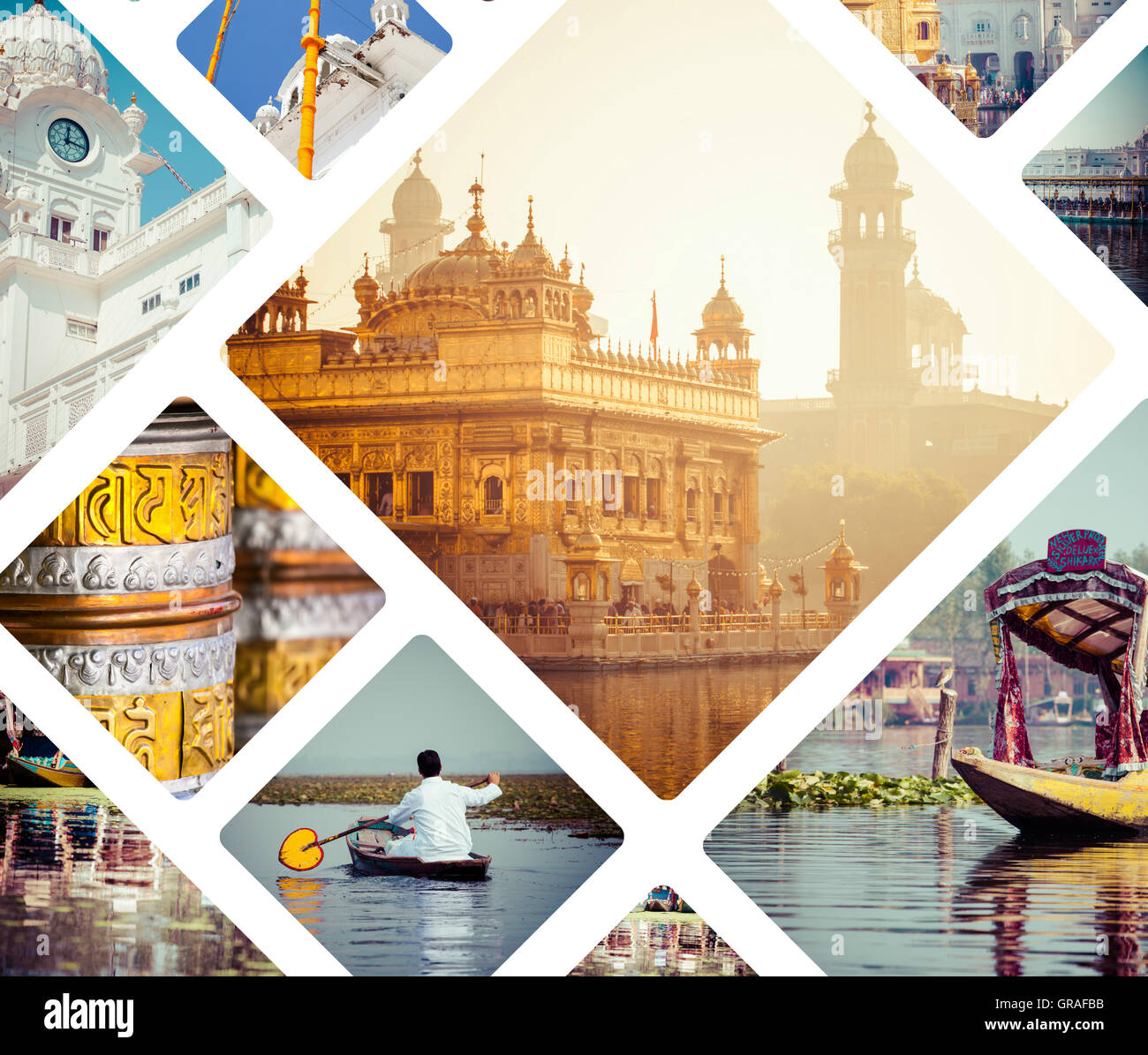 Collage Of India Images Travel Background My Photos Stock Photo Alamy