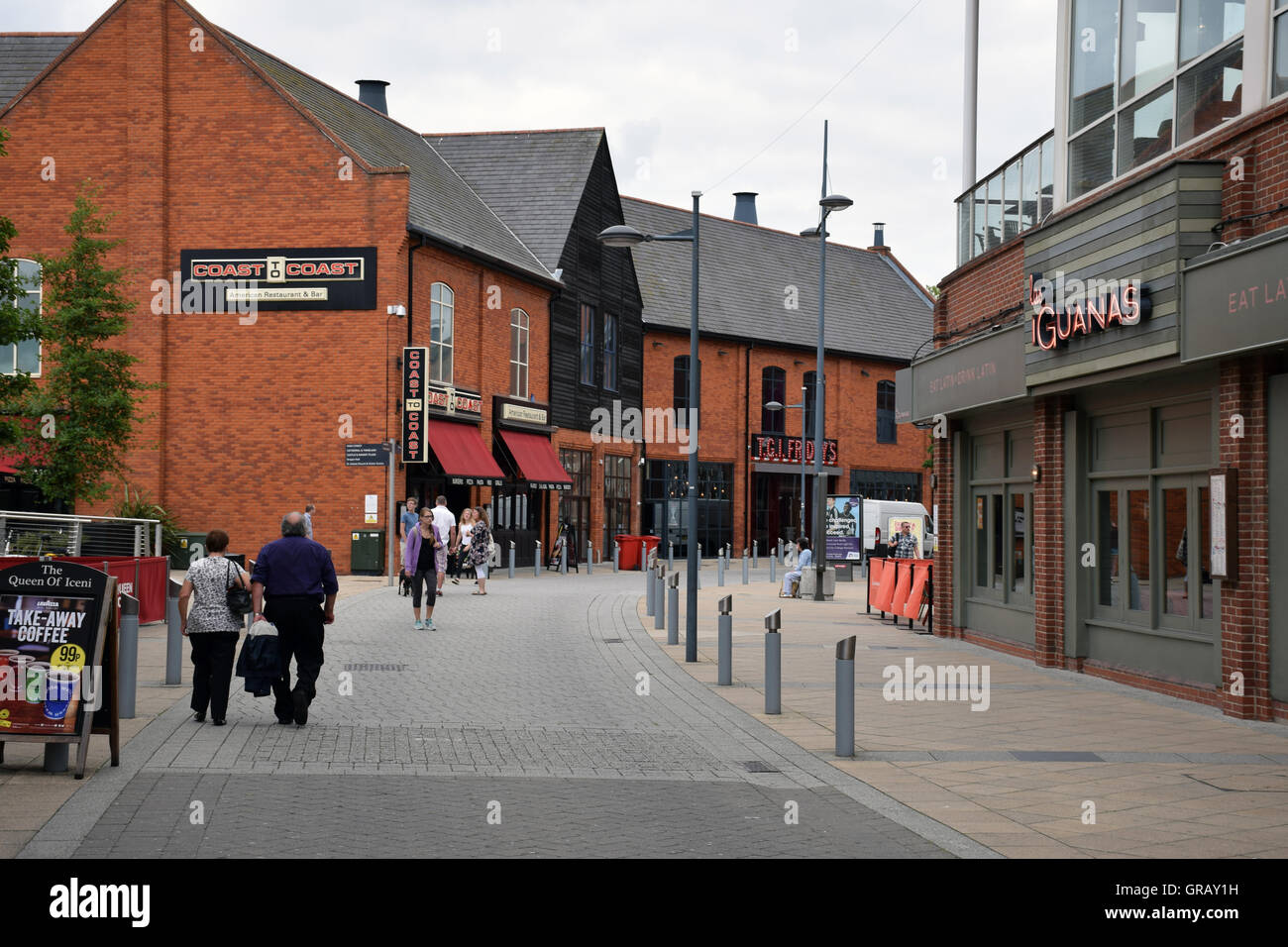 Riverside leisure complex, Norwich, Norfolk 2016 - Stock Image