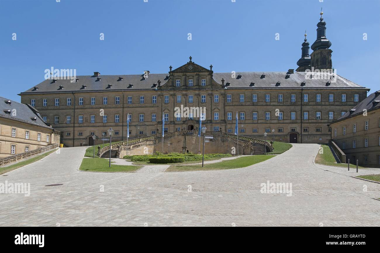cd20ee5924e Banz Monastery Courtyard With The Main Building And Wings And Towers Of The  Monastery Church -