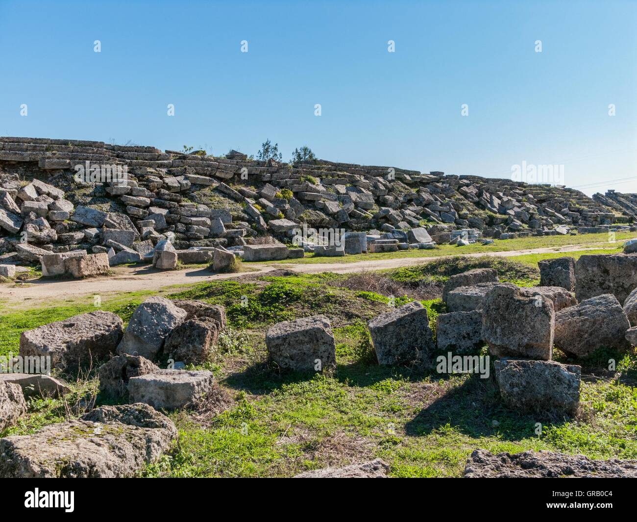 Perge Stadium By Earthquakes Shattered Spectator Stands - Stock Image