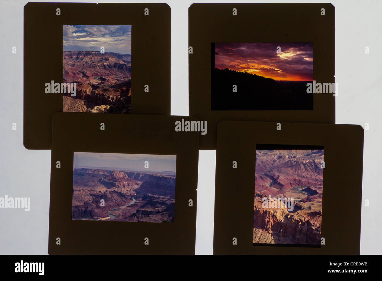 Grand Canyon Photographs In Picture Frame Against White Background ...