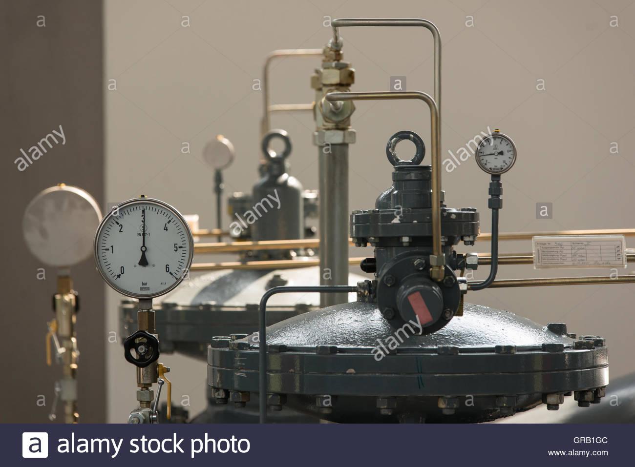 Gas Pressure Regulating Station - Stock Image