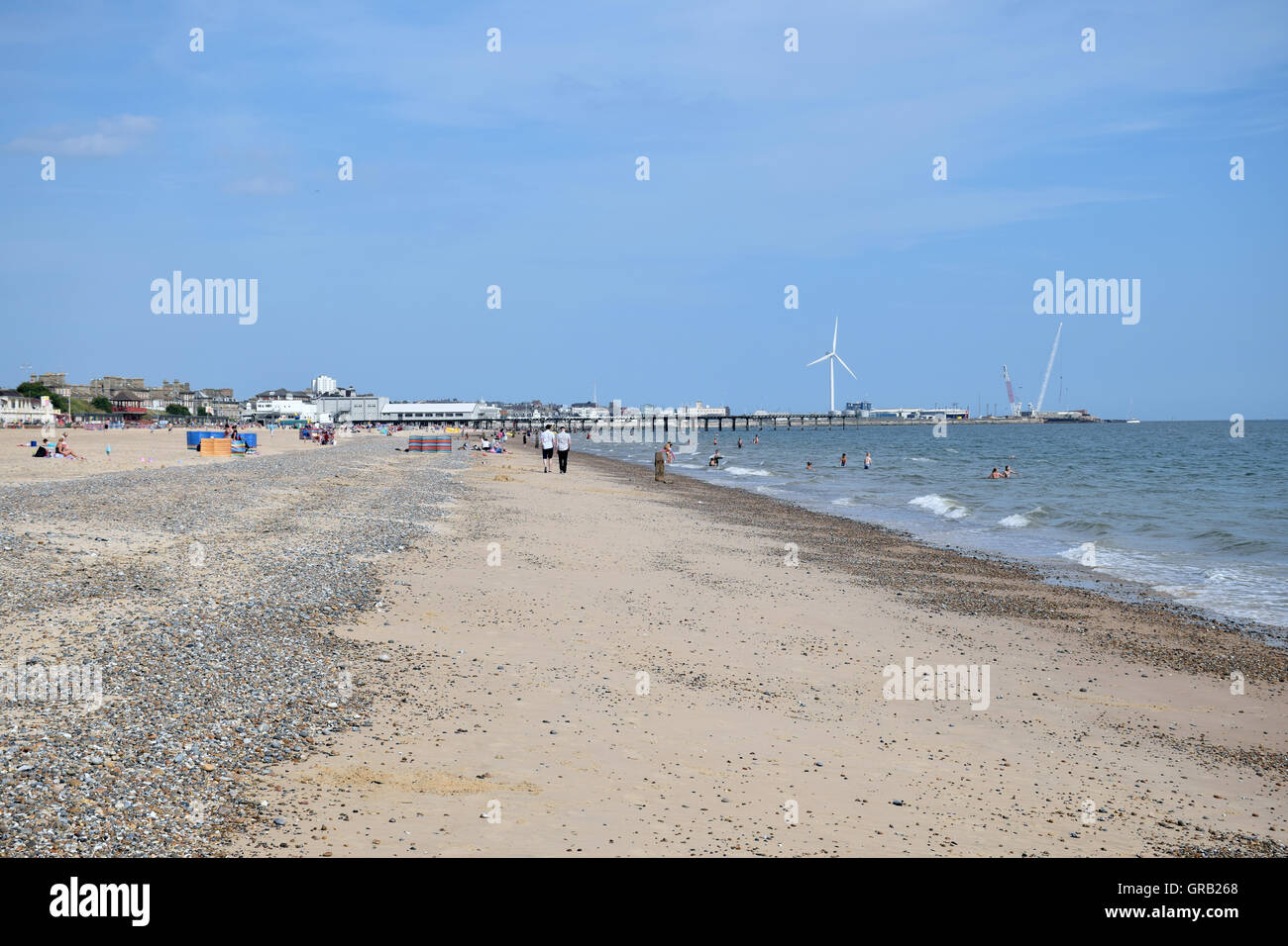Lowestoft beach, Suffolk, Aug 2016 - Stock Image