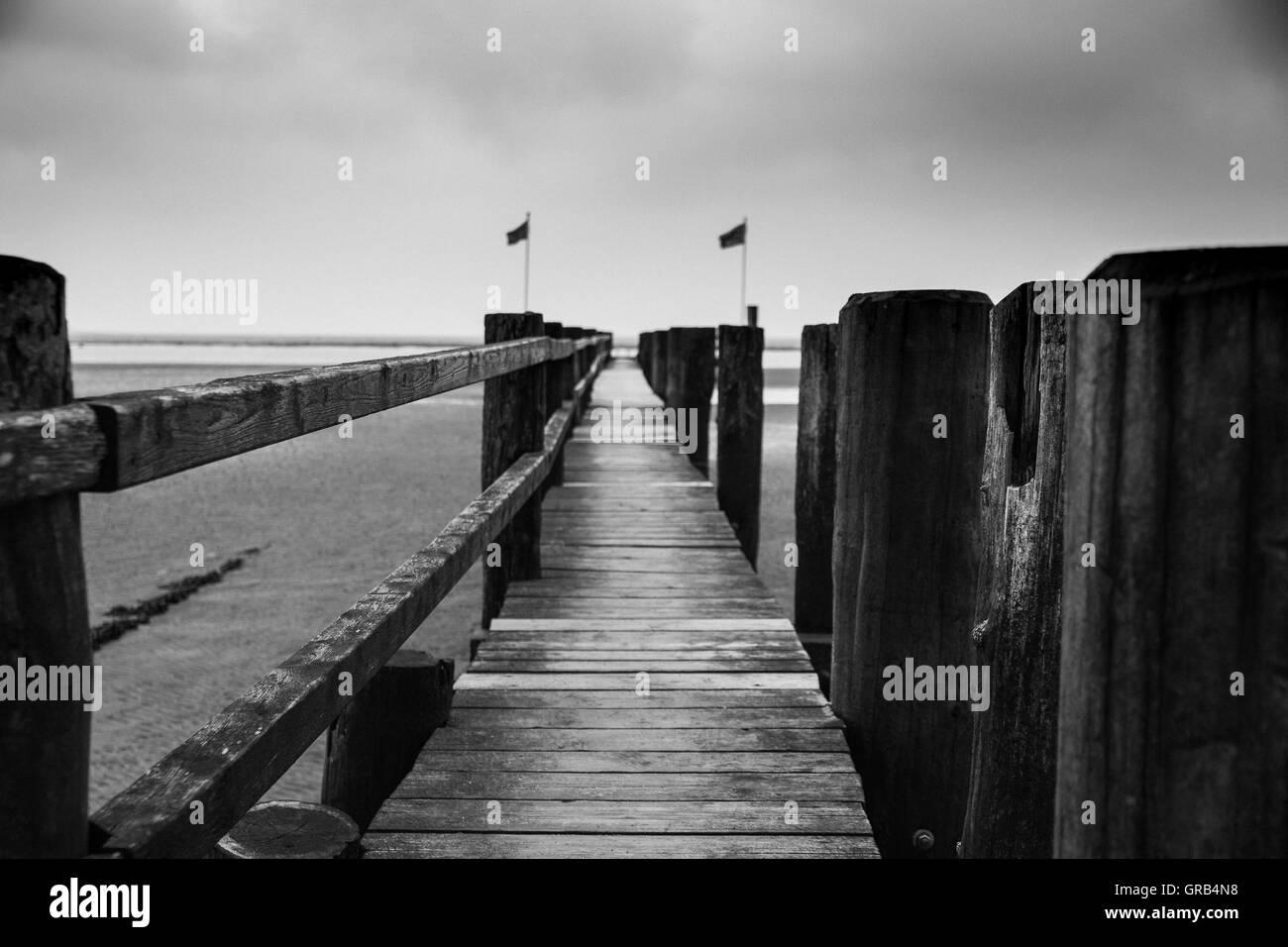 Dock Bw - Stock Image