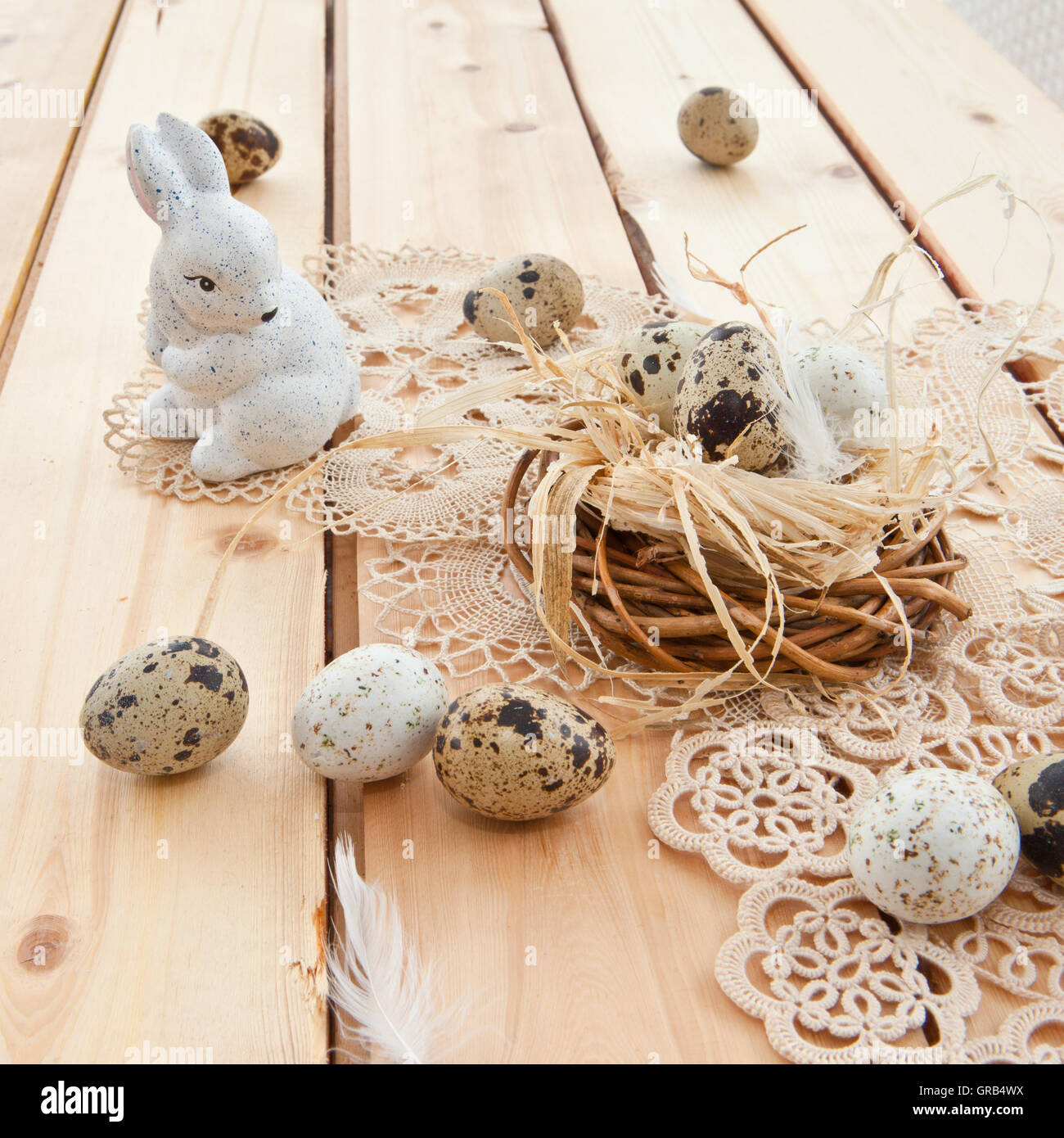 Rustic Easter Nest - Stock Image