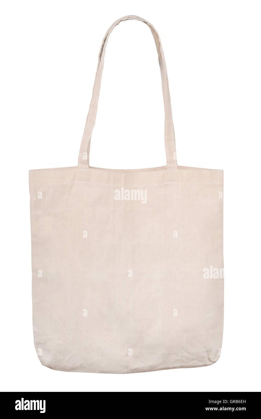 Blank linen shopping bag - Stock Image