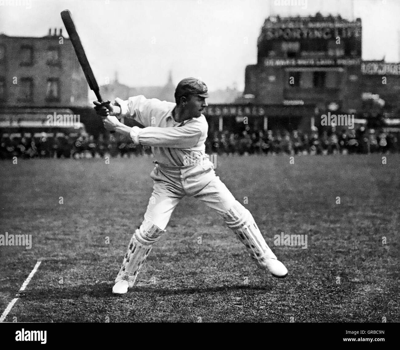 VICTOR TRUMPER (1877-1915) Australian cricketer about 1900 - Stock Image