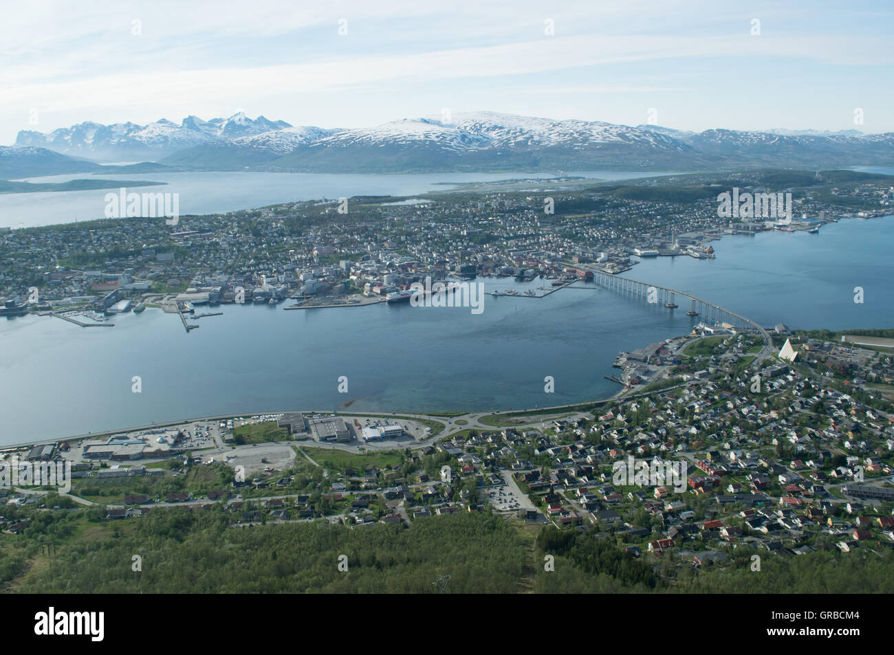 City north of artic circle - Stock Image