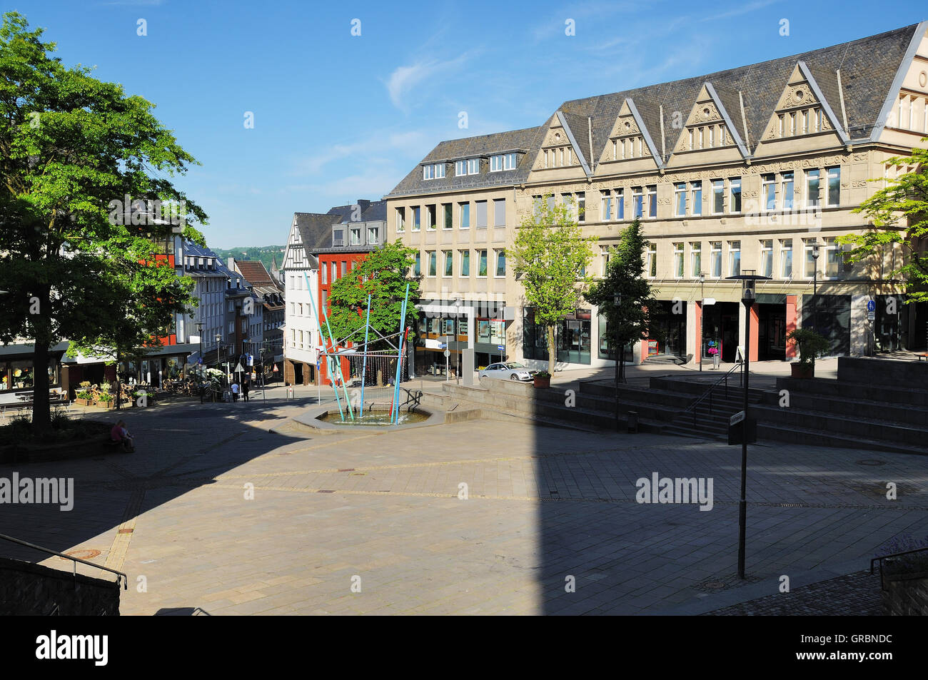 Marketplace In Siegen - Stock Image